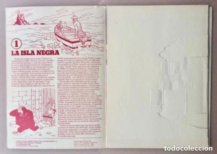 Cómics: TINTÍN Calcomic Original La Isla Negra Negra INCOMPLETO - Foto 2 - 251620365