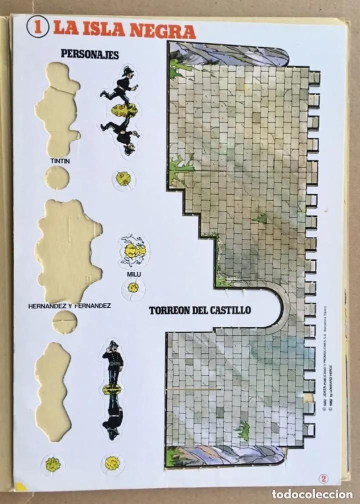 Cómics: TINTÍN Calcomic Original La Isla Negra Negra INCOMPLETO - Foto 4 - 251620365