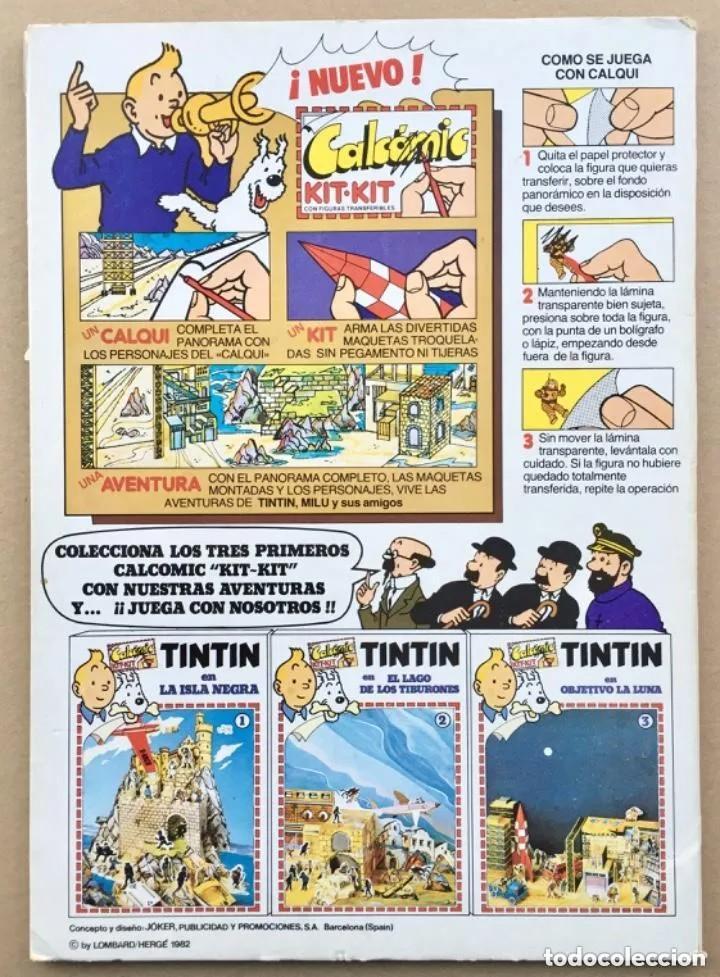 Cómics: TINTÍN Calcomic Original La Isla Negra Negra INCOMPLETO - Foto 7 - 251620365