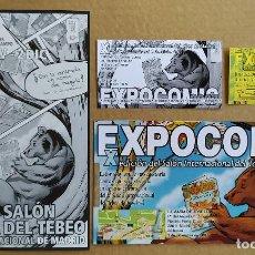Cómics: LOTE 4 PIEZAS: MARK BUCKINGHAM MATERIAL PROMOCIONAL EXPOCÓMIC 2007 ILUSTRACIÓN EXCLUSIVA. Lote 255575610