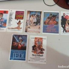 Cómics: LOTE 7 HOJITAS PUBLICIDAD PELICULAS JAMES BOND, STAR WARS, ARCA PERDIDA.. REF. UR EST. Lote 262910215