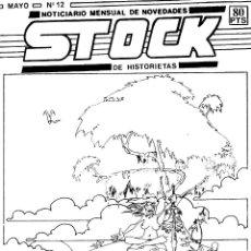 Cómics: FANZINE STOCK 12 DE HISTORIETAS. NOTICIAS SOBRE TEBEOS Y SUPERHÉROES. ARTÍCULO BILL SIENKIEWICZ. Lote 264548664