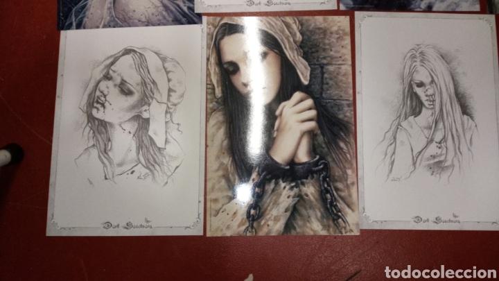 Cómics: Lote 10 laminas dibujos victoria francés dark santuary 39x26 aproximadamente - Foto 2 - 265433819