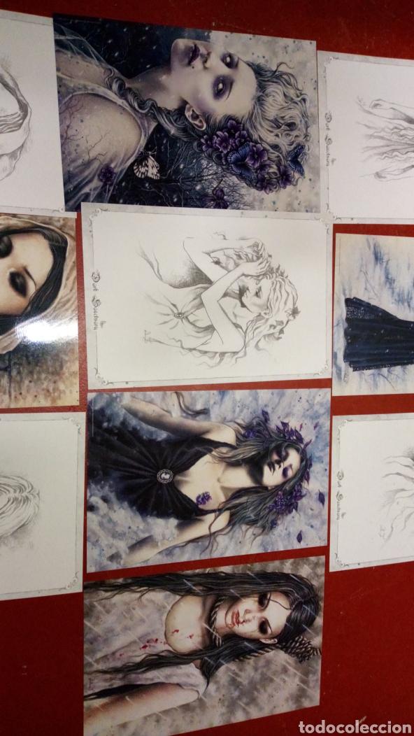 Cómics: Lote 10 laminas dibujos victoria francés dark santuary 39x26 aproximadamente - Foto 3 - 265433819