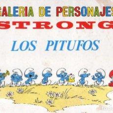 Comics: LAMINA GALERIA DE PERSONAJES DE STRONG, ( LOS PITUFOS ). Lote 267280119