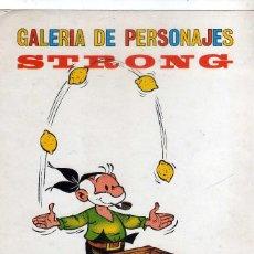Comics: LAMINA GALERIA DE PERSONAJES DE STRONG, ( EL VIEJO NICK ). Lote 267280724