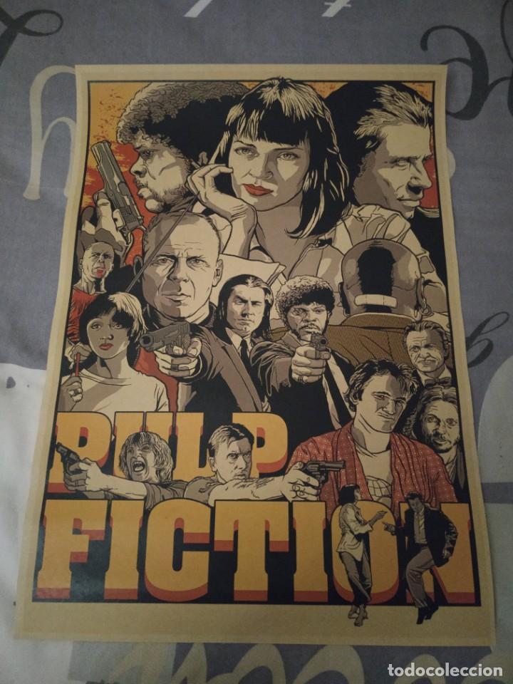 CARTEL POSTER PULP FICTION ELABORADO CON PAPEL-CARTÓN Y TINTA DE ALTA CALIDAD 2 (Tebeos y Comics - Comics Merchandising)