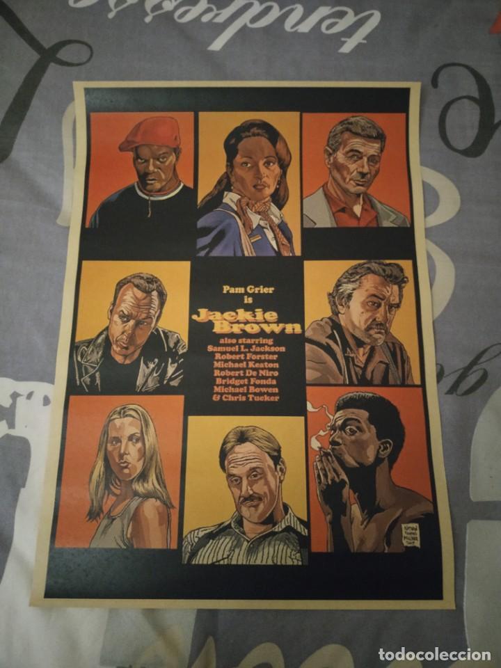 CARTEL POSTER JACKIE BROWN ELABORADO CON PAPEL-CARTÓN Y TINTA DE ALTA CALIDAD (Tebeos y Comics - Comics Merchandising)