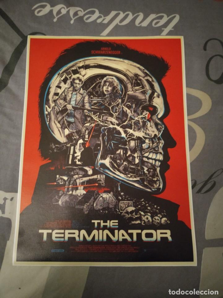 CARTEL POSTER TERMINATOR DE TELA Y TINTA DE ALTA CALIDAD 3 (Tebeos y Comics - Comics Merchandising)