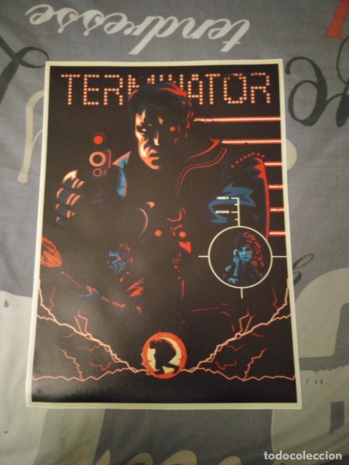 CARTEL POSTER TERMINATOR DE TELA Y TINTA DE ALTA CALIDAD 4 (Tebeos y Comics - Comics Merchandising)