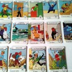 Cómics: JUEGO DE CARTAS DE FAMILIAS TINTIN - LOMBARD 1983 - 84 CARTAS. Lote 268858284