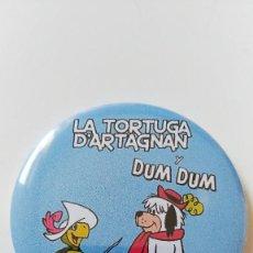 Cómics: CHAPA DE LA TORTUGA DARTAGNAN Y DUM DUM - IMAN DE 58MM. Lote 289491198