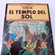 Fumetti: HERGE - POSTAL DE TINTIN EL TEMPLO DEL SOL - REVERSO TIPO POSTAL ORIGINAL DE ED. JUVENTUD 1983. Lote 276494013