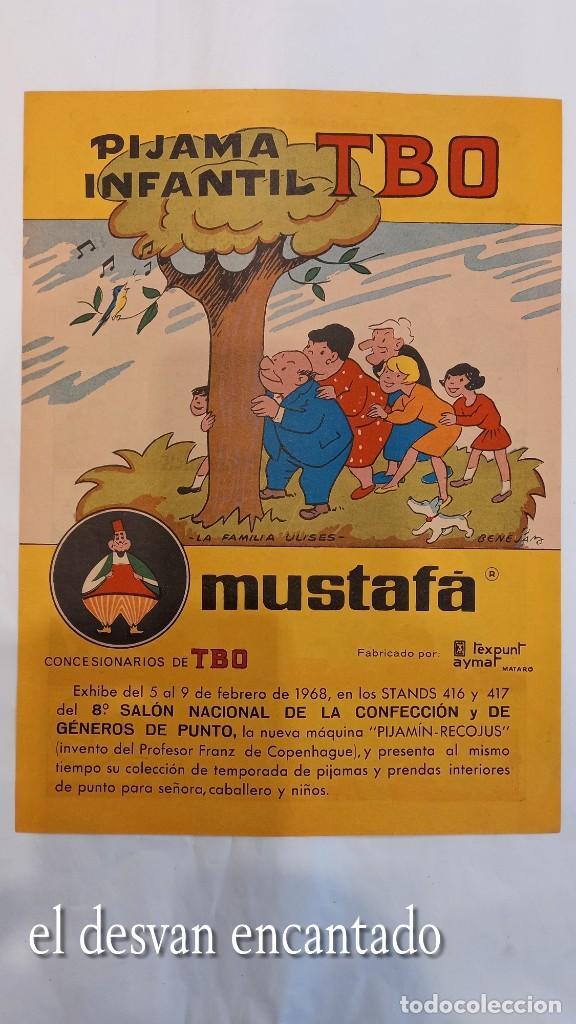 FAMILIA ULISES. CARTEL-HISTORIETA PUBLICIDAD PIJAMA MUSTAFA. TBO. AÑO 1968. 28 X 20 CTMS (Tebeos y Comics - Comics Merchandising)