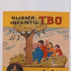 Cómics: FAMILIA ULISES. CARTEL-HISTORIETA PUBLICIDAD PIJAMA MUSTAFA. TBO. AÑO 1968. 28 X 20 CTMS. Lote 277141048