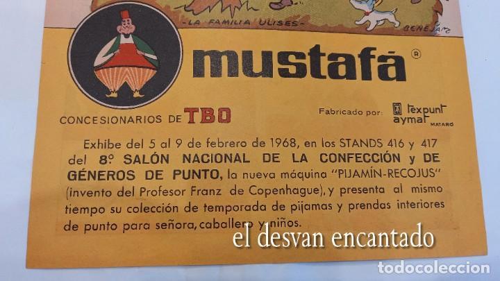 Cómics: FAMILIA ULISES. Cartel-historieta publicidad PIJAMA MUSTAFA. TBO. Año 1968. 28 x 20 ctms - Foto 2 - 277141048