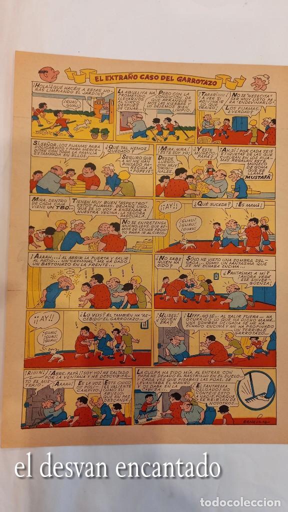 Cómics: FAMILIA ULISES. Cartel-historieta publicidad PIJAMA MUSTAFA. TBO. Año 1968. 28 x 20 ctms - Foto 3 - 277141048