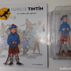 Cómics: FIGURAS DE TINTIN COLECCION OFICIAL Nº 22 TINTIN CON KILT + LIBRO Y PASAPORTE - UNICA EN TC. Lote 287720998