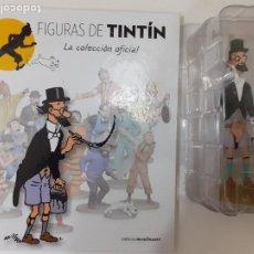 Cómics: FIGURAS DE TINTIN COLECCION OFICIAL Nº 38 PROFESOR CICLON CON PINCEL LIBRO Y PASAPORTE - UNICA EN TC. Lote 287723558