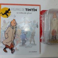 Cómics: FIGURAS DE TINTIN COLECCION OFICIAL Nº 1 TINTIN CON GABARDINA + LIBRO Y PASAPORTE. Lote 287726043