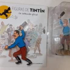 Cómics: FIGURAS DE TINTIN COLECCION OFICIAL Nº 47 BOBBY SMILES AMENAZANTE + LIBRO Y PASAPORTE, UNICO EN TC. Lote 287728003