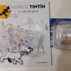 Cómics: FIGURAS DE TINTIN COLECCION OFICIAL Nº 4 MILU PASEA SU HUESO + LIBRO Y PASAPORTE, UNICO EN TC. Lote 287728368