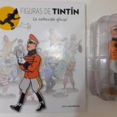 Cómics: FIGURAS DE TINTIN COLECCION OFICIAL Nº 20 EL REY MUSKAR + LIBRO Y PASAPORTE, UNICO EN TC. Lote 287730653