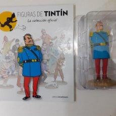 Cómics: FIGURAS DE TINTIN COLECCION OFICIAL Nº 42 GENERAL ALCAZAR DE UNIFORME, LIBRO Y PASAPORTE UNICO EN TC. Lote 287743043