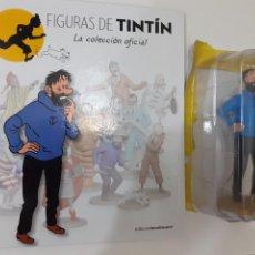 Cómics: FIGURAS DE TINTIN COLECCION OFICIAL Nº 2 HADDOCK DUBITATIVO + LIBRO Y PASAPORTE - PRECINTADA. Lote 287743843