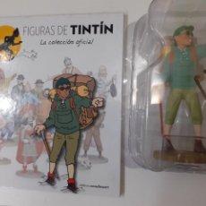 Comics: FIGURAS DE TINTIN COLECCION OFICIAL Nº 65 THARKEY SHERPA FIEL + LIBRO Y PASAPORTE - PRECINTADA. Lote 287748368