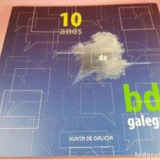 Cómics: CATÁLOGO-10 AÑOS BANDA DISEÑO GALEGA-2007-XUNTA DE GALICIA-COMICS-COLECCIONISTAS.. Lote 287948013