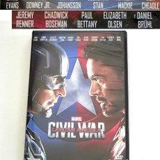 Cómics: CAPITÁN AMÉRICA CIVIL WAR DVD PELÍCULA ACCIÓN IRON MAN CHRIS EVANS PERSONAJE D CÓMIC MARVEL JOHANSON. Lote 288026428