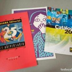 Cómics: X 3 CATALOGOS COMICS NORMA EDITORIAL: 2002 (ESPECIAL 25 ANIVERSARIO), 2003 Y 2008. Lote 288321118
