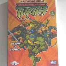 Cómics: DVD LAS TORTUGAS NINJAS TIEMPO DE CAMBIO DIBUJOS ANIMADOS TURTLES ESPISODIOS EL ATAQUE D LOS MOUSERS. Lote 289496388