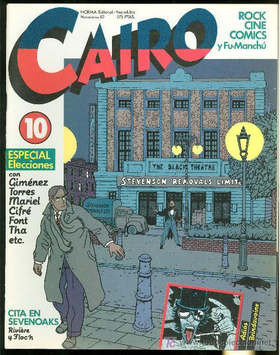 CAIRO. ESPECIAL ELECCIONES. Nº 10. 66 PAG. (Tebeos y Comics - Norma - Cairo)