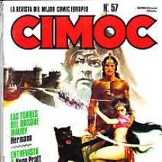 Cómics: CÓMIC CIMOC Nº 57 ( NUEVA ÉPOCA ) ED.NORMA.HERMANN,PRATT,THA,ETC...EXCLT.. Lote 27280319