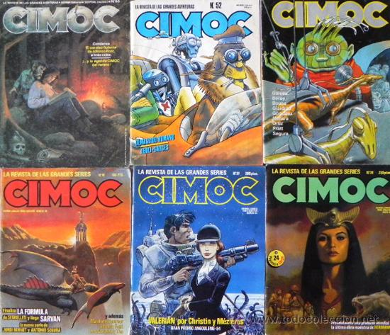 LOTE 7 CÓMICS CIMOC CIENCIA FICCIÓN AVENTURA CÓMIC - ENTREVISTA A MILO MANARA + DE 580 PÁG. ADULTOS (Tebeos y Comics - Norma - Cimoc)