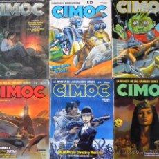 Cómics: LOTE 7 CÓMICS CIMOC CIENCIA FICCIÓN AVENTURA CÓMIC - ENTREVISTA A MILO MANARA + DE 580 PÁG. ADULTOS. Lote 26698680
