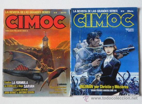 Cómics: LOTE 7 CÓMICS CIMOC CIENCIA FICCIÓN AVENTURA CÓMIC - ENTREVISTA A MILO MANARA + DE 580 PÁG. ADULTOS - Foto 2 - 26698680