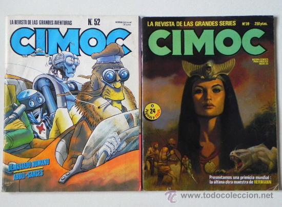 Cómics: LOTE 7 CÓMICS CIMOC CIENCIA FICCIÓN AVENTURA CÓMIC - ENTREVISTA A MILO MANARA + DE 580 PÁG. ADULTOS - Foto 3 - 26698680