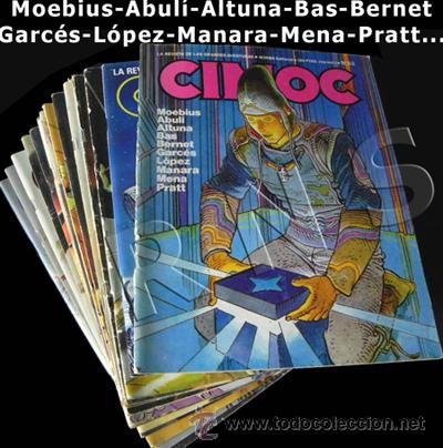 GRAN LOTE 14 COMICS CIMOC - CÓMIC PARA ADULTOS REVISTA AVENTURA ERÓTICO CIENCIA FICCIÓN MANARA PRATT (Tebeos y Comics - Norma - Cimoc)