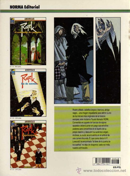 Cómics: RORK, CAPRICORNIO - ANDREAS - COL. PANDORA Nº 28 - NORMA - Foto 2 - 27673696
