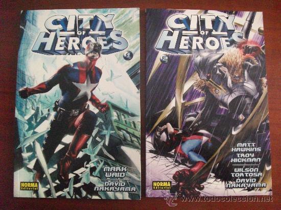 CITY OF HEROES VOL 1 Y 2 TAPA RUSTICA NORMA EDITORIAL (Tebeos y Comics - Norma - Otros)