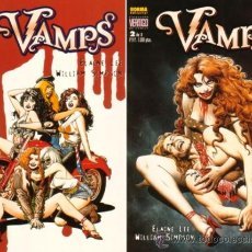 Cómics: VAMPS 1 Y 2 (NORMA EDITORIAL - COLECCION VERTIGO). Lote 28753834