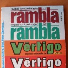 Cómics: COMICS VERTIGO-RAMBLA (RAMBLA Nº 1-2, VERTIGO 8-9-10). Lote 29089398