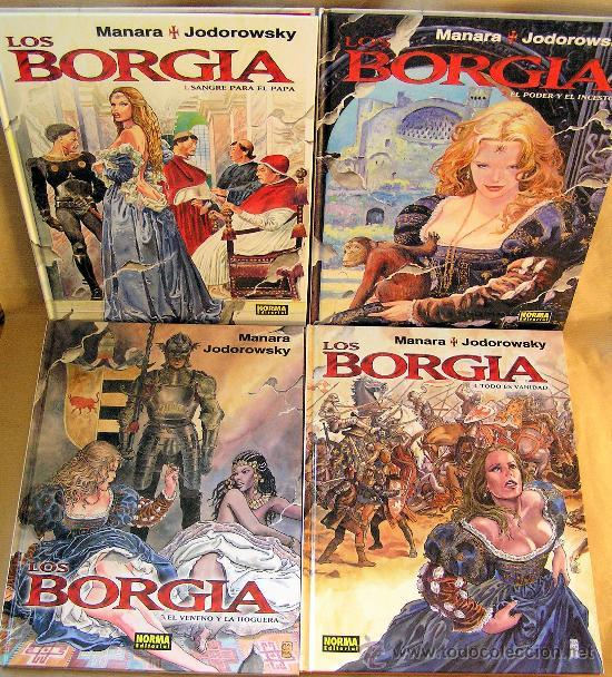 LOS BORGIA – MILO MANARA - A. JODOROWSKY – 4 TOMOS COMPLETA – NORMA ED – NUEVOS – CLR16 (Tebeos y Comics - Norma - Comic Europeo)