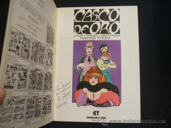 Cómics: CASCO DE ORO - EDICIONES LA TORRE - CON DEDICATORIA DE ANNIE GOETZINGER - - Foto 2 - 31983709