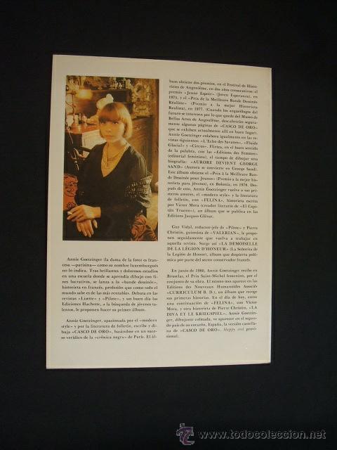 Cómics: CASCO DE ORO - EDICIONES LA TORRE - CON DEDICATORIA DE ANNIE GOETZINGER - - Foto 7 - 31983709