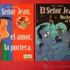 Cómics: SEÑOR JEAN, 2 ÁLBUMES. - NOCHES EN VELA - Y - EL AMOR, LA PORTERA - AUT. DUPUY Y BERBERIAN.ED. NORMA. Lote 32375399