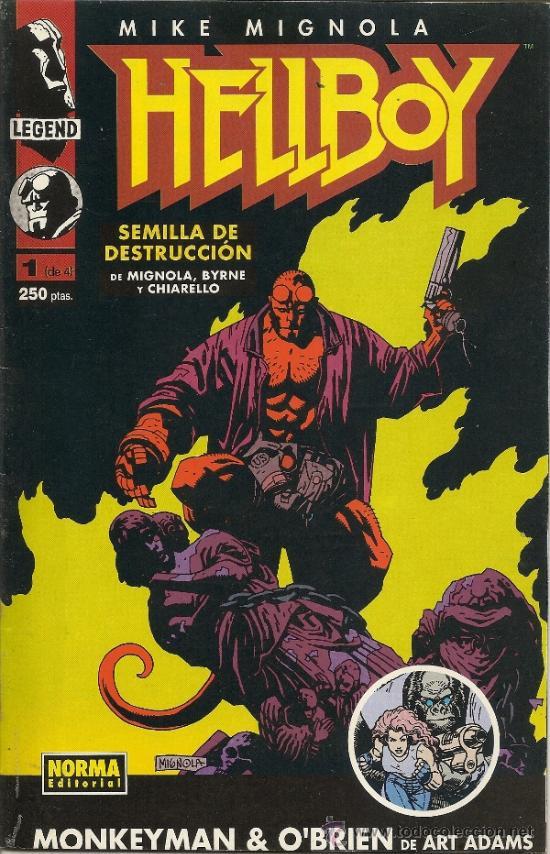 HELLBOY. SEMILLA DE DESTRUCCION. SERIE DE 4. COMPLETA (Tebeos y Comics - Norma - Comic USA)